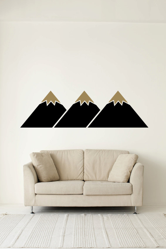 Mountain Range Removable Wall Stickers For Living Room Art Home
