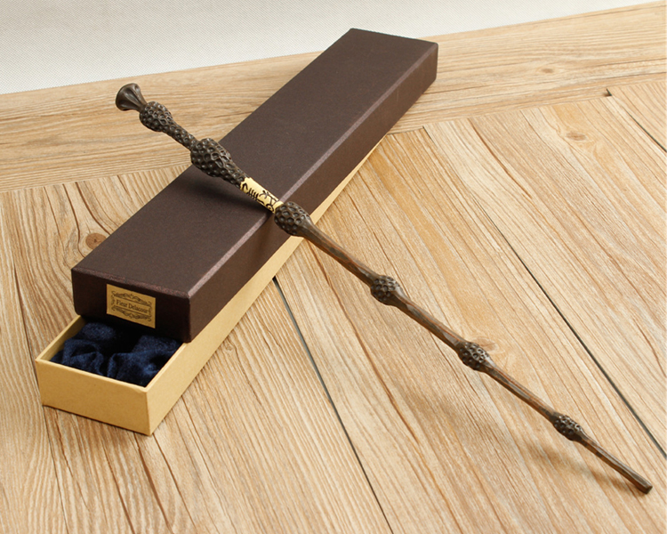 Original Version Quality Metal Core Deluxe COS Albus Dumbledore Magic Wand of Magical Stick with Gift Box pack of Harry potter high quality best price harry potter magic wand kids cosplay stage magic tricks sticks children toys harry potter magical wand