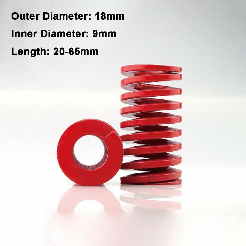 1Pcs Red Medium Load Compression Spring Outer Diameter 18mm Inner Diameter 9mm Loading Die Mold Spring Length 20-65mm(China)