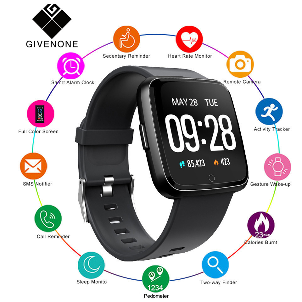 Fsoran Y7 Bluetooth Smartwatch Heart Rate Blood Pressure Monitor motion BT4 0 Waterproof Smart Watch For