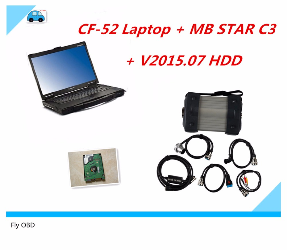 Mb star c3 for mercede benz cf52 diagnostic computer 2g used high quality for panasonic toughbook