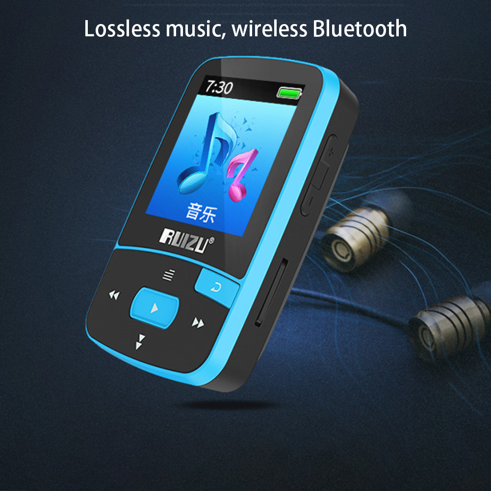 X50 Mini Sport Clip Bluetooth mp3 Player 8GB Music Player Support TF Card FM Radio Recording E Book Pedometer in MP3 Player from Consumer Electronics