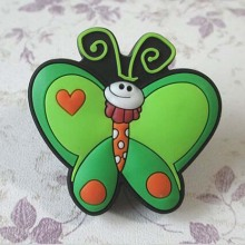 Soft gums Dresser Drawer Knob Handles Green Butterfly  Kids Children Cartoon Knobs Cabinet Handle Pull Knob