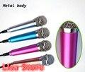 Free Ship 5pcs Portable Mini Microphone Studio Speech karaoke microfono For iphone 6 5 4 Samsung S6 S5 S4 Android Smart Phone