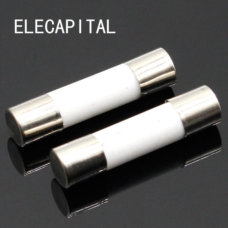 10pcs Ceramic Fuse 5mm x 20mm Slow Blow T 0.5A 1A 2A 3A 4A 5A 6A 8A 10A 13A 15A 16A 20A 250V все цены