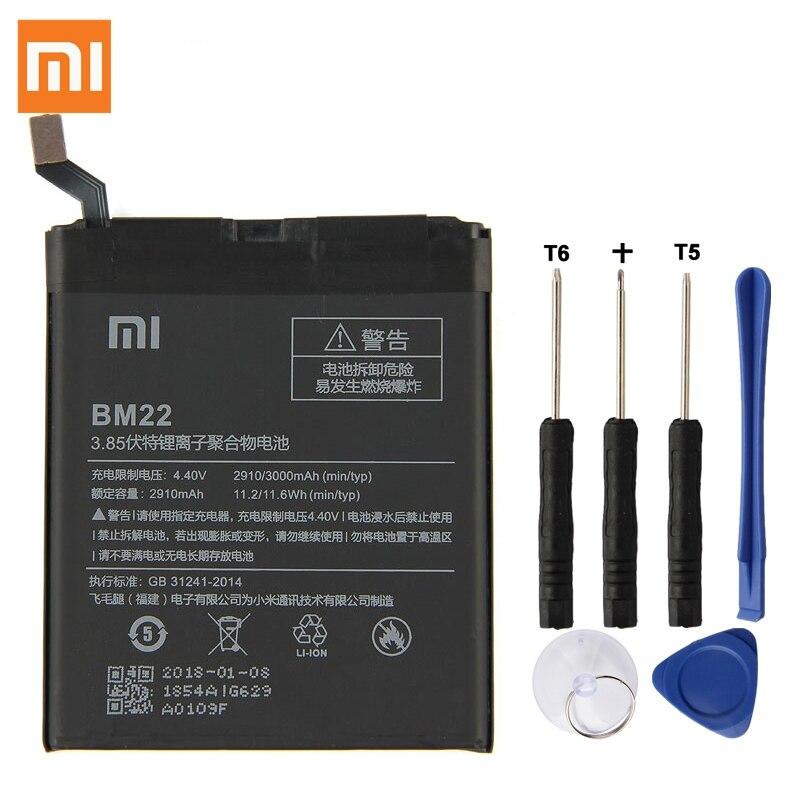 Original batería de reemplazo para XiaoMi 5 Mi5 M5 primer BM22 de teléfono de la batería de 3000 mAh