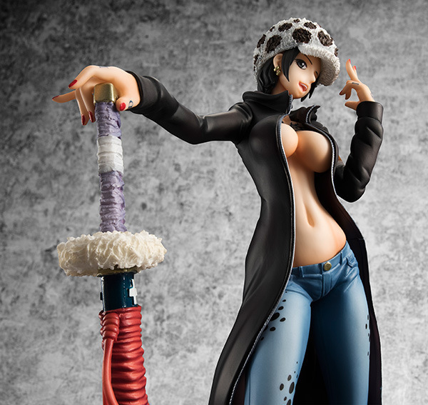 NEW hot 20cm One piece <font><b>sexy</b></font> <font><b>female</b></font> version Trafalgar D Water Law <font><b>action</b></font> <font><b>figure</b></font> toys collection christmas toy doll with box image