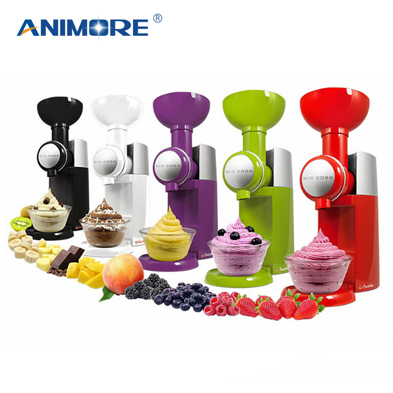 ANIMORE 220 V/110 V automática congelado postre de frutas máquina grande fabricante de helado batido máquina IC-01