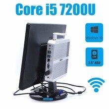 HYSTOU Mini PC i5 7200U Intel Кабы Озеро Core 16 ГБ RAM 512 ГБ SSD Небольшой Размер Barebone mini pc HDMI VGA Windows Mini PC Портативный