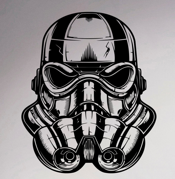 Storm trooper wall poster star wars vinyl sticker movie nursery decal home room interior decor art mural in wall stickers from home garden on