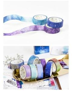 Image 5 - 24 יח\חבילה שמי זרועי הכוכבים נייר washi קלטות דקו צבע מיסוך קלטות 15mm * 7m מדבקות רעיונות מסגרת גלרית DIY מכתבים A6909
