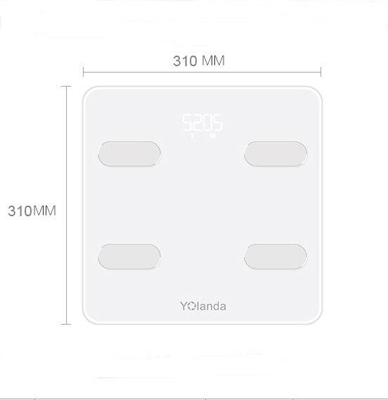 Yolanda Pre mi um Smart Bagno Peso Bilancia WiFi Bluetooth Del Corpo Grasso Bilancia umani Di pesatura mi pavimento Bilancia s domestico regalo a casa - 6