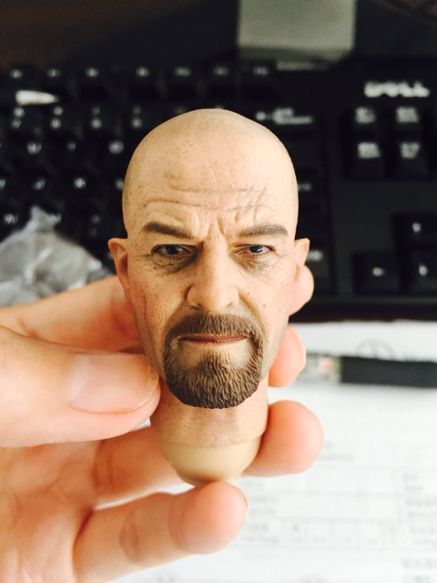 цена на 1/6 scale figure doll head shape for 12 action figure doll accessories Breaking Bad Walter White Bryan Cranston headsculpt