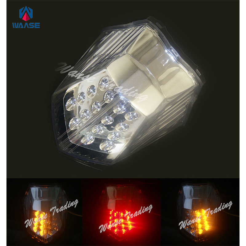 waase Rear Tail Brake Turn Signals Integrated Led Light Clear For 2009 2010 2011 2012 2013 2014 2015 YAMAHA Diversion 600 XJ600