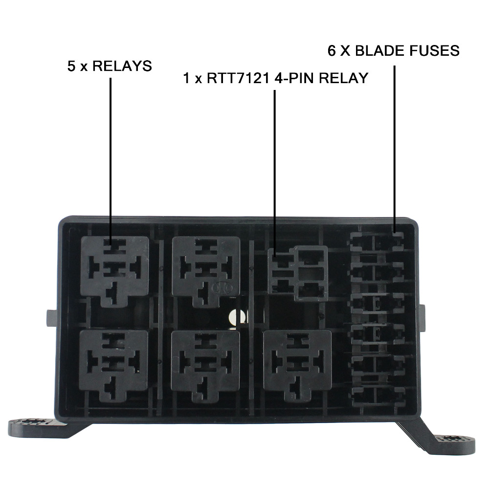12 Slot Relay Box 6 Relays 6 Blade Fuses Fuse Relay Box for Automotive  Marine and boat-in Fuses from Automobiles & Motorcycles on Aliexpress.com |  Alibaba ...