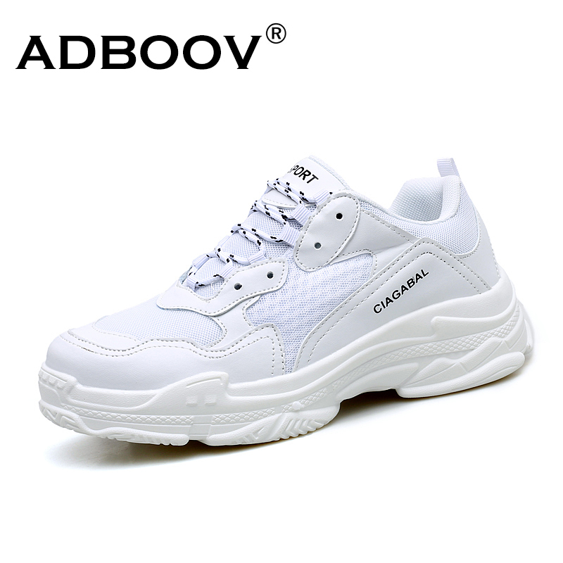 ADBOOV Plus Size 35- 48 Black Sneakers Men Unisex Thick Sole Breathable Casual White Shoes Tenis Masculino Adulto Dad Shoes цена