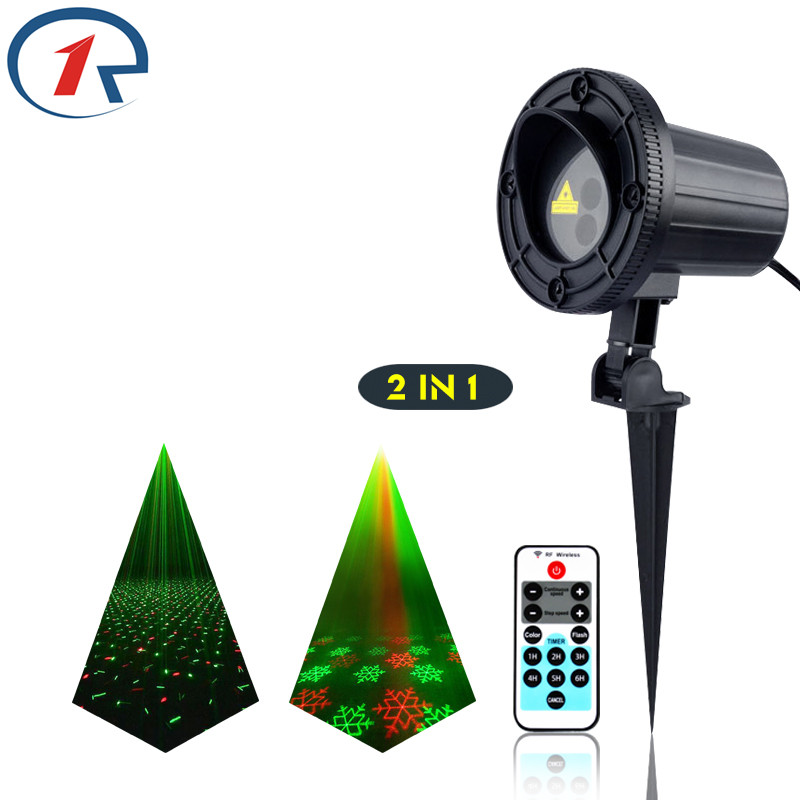 ZjRight IR Remote Christmas 2 pattern laser light waterproof outdoor projection laser stage light bar dj lights KTV disco light zjright laser light ir remote red green christmas lights outdoor waterproof garden lamp park party bar dj disco halloween lights