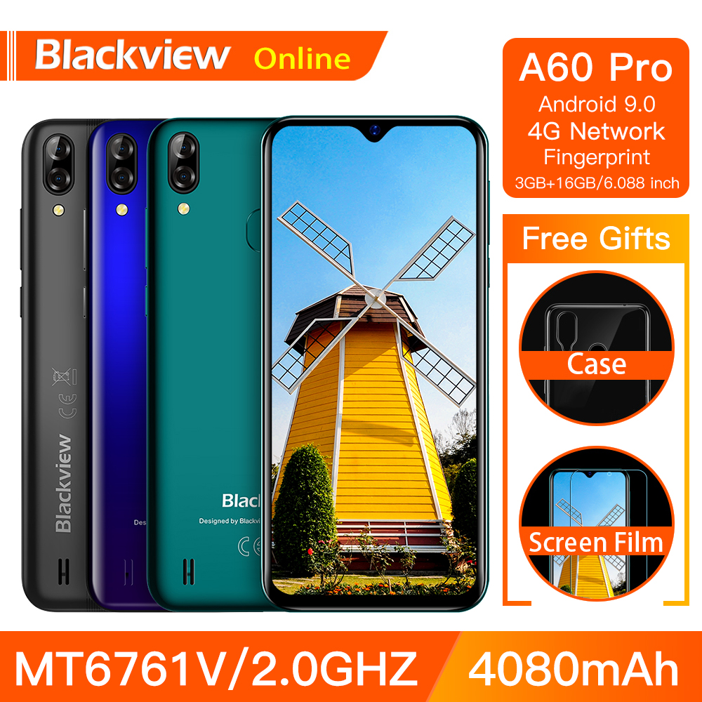 Blackview A60 Pro Original Smartphone 3GB 16GB MT6761V Cellphone Android 9 0 Waterdrop Screen 4080mAh Touch