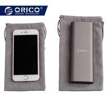 ORICO Telefon Depolama Kadife Çanta Depolama için USB şarj aleti/USB kablosu/Güç Bankası/Telefon ve Daha Gri Renk