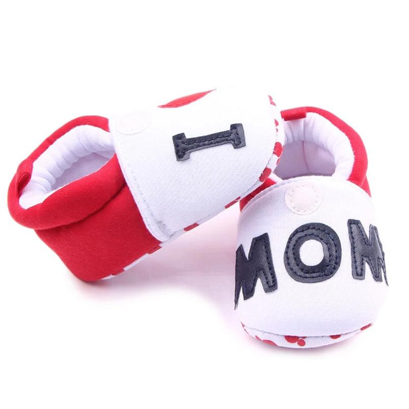 I Love Mon Newborn Baby Boys Girls Shoe First Walkers Soft Soled Infant Toddler Kids Uni ...