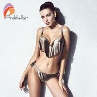 Andzhelika Bikini 2018 Summer Women Swimsuit Lotus Leaf Bikini Set Push Up Swimwear Sexy Brazilian Low