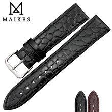 Ремешок maikes из натуральной кожи для наручных часов мягкий