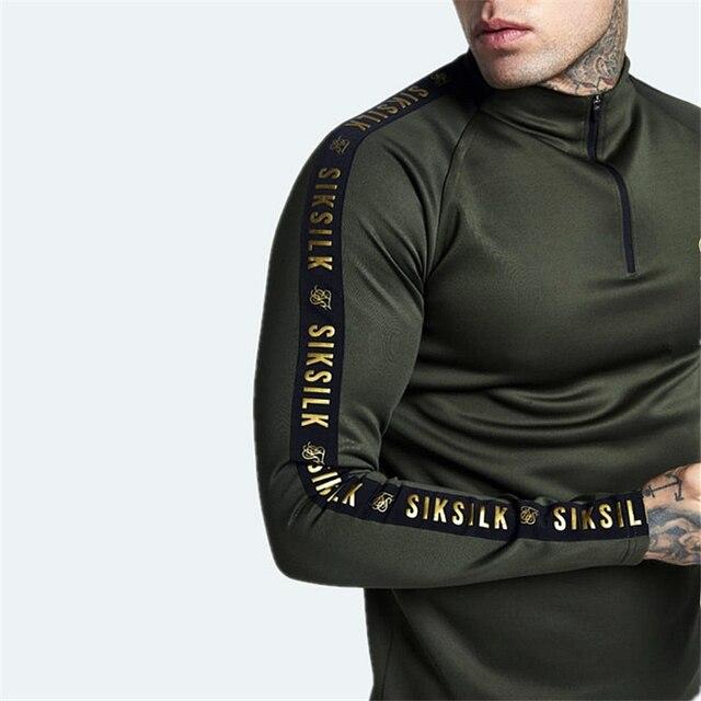 Camisetas de seda para hombre de España, camiseta de seda para hombre, ropa informal estilo hip hop seda, gimnasios de seda, camiseta de Fitness para hombre, camiseta Siksilk de hombre