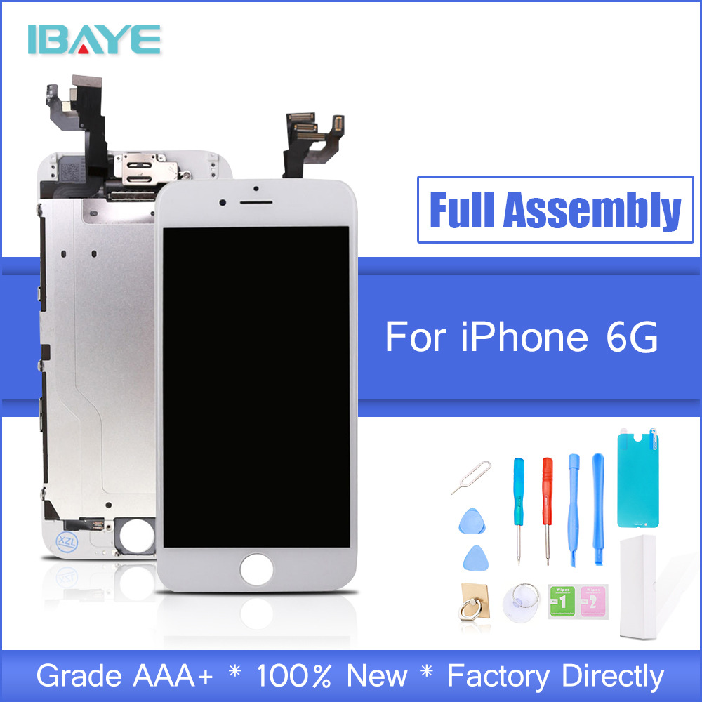 Display For iPhone 6 LCD Full for iphone6 lcd Touch Screen frame+home Button+front camera speaker Full Assembly Replacement Tool iPhone 6