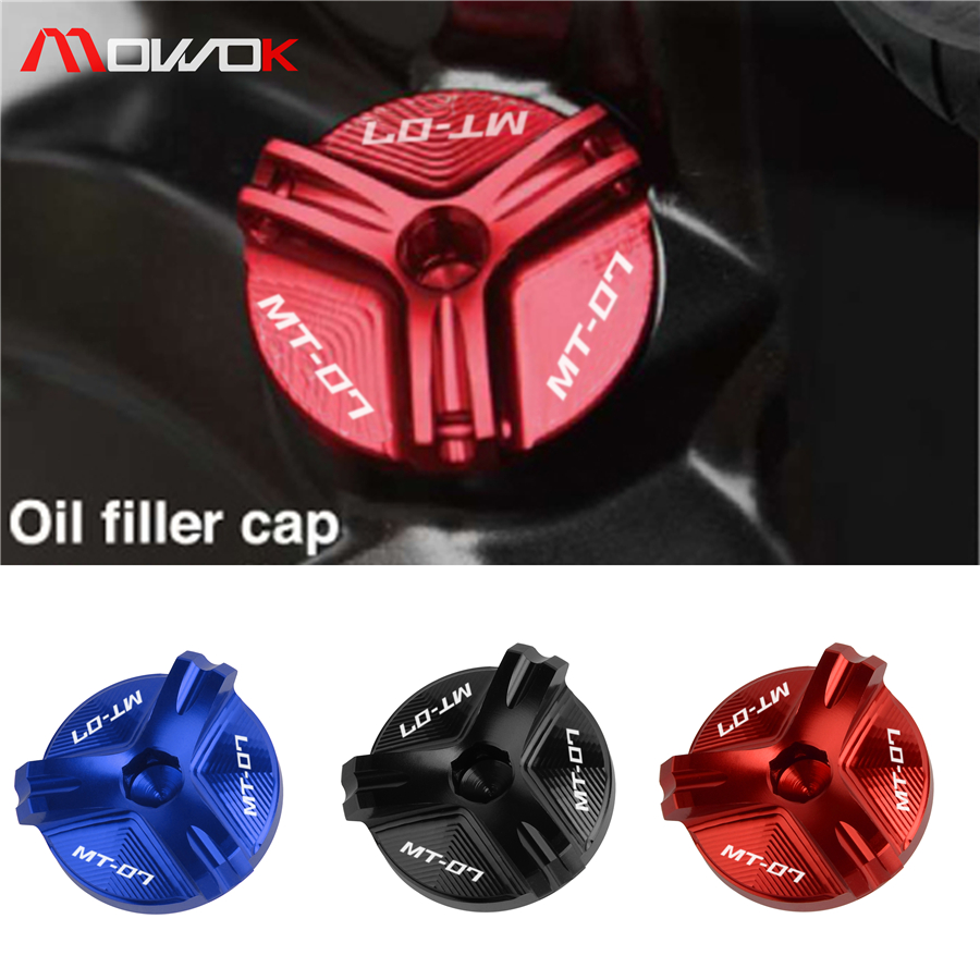 With LOGO MT-07 One Piece Engine Oil Drain Plug Cover 5 Colors Available For YAMAHA MT 07 Fz 07 Mt07 Fz07