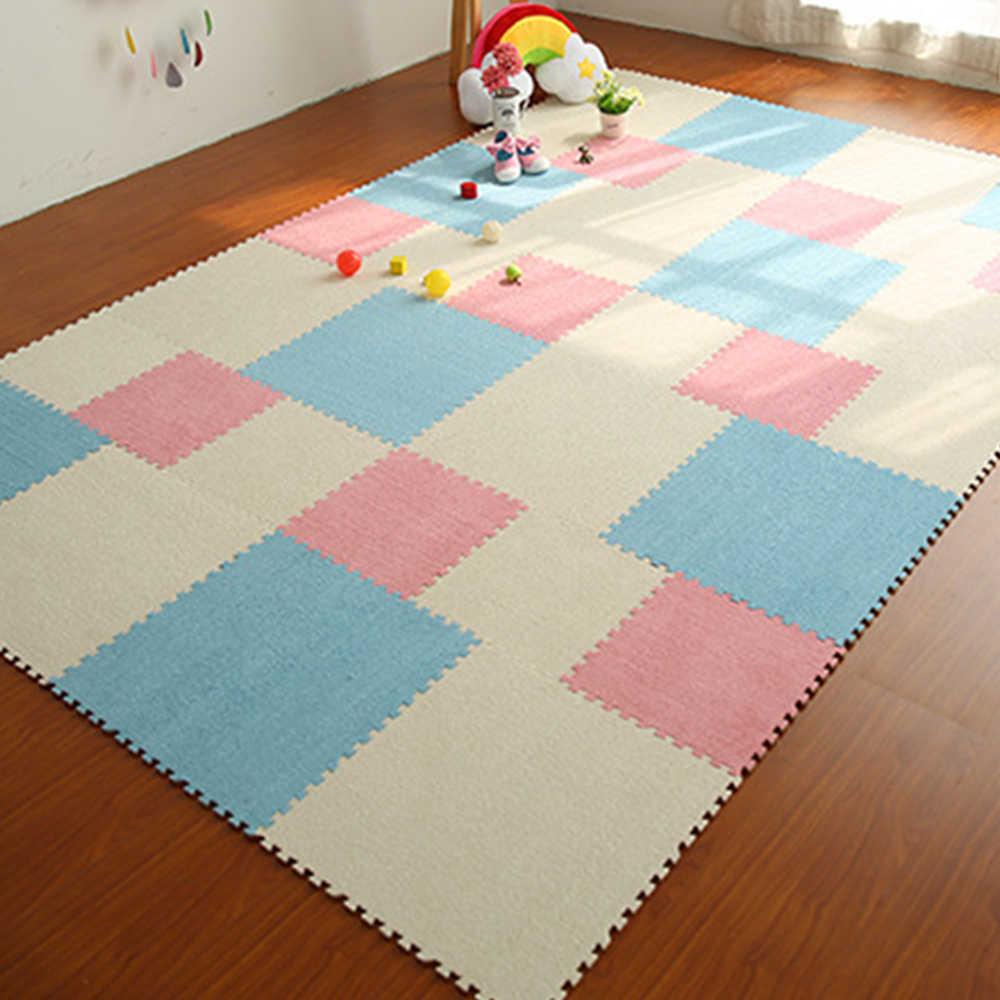 RAYUAN DIY коврик-головоломка EVA пенопластовый лохматый коврик-головоломка плюшевый мягкий коврик для игр детский игровой коврик Домашний декор