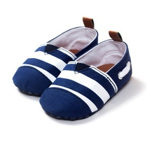 Toddler Boy Girl Shoes Cotton Striped Kids Crib Shoes Soft Soled Prewalker Casual Baby Shoes