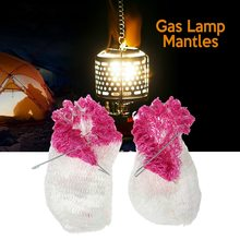 2 PCS Shade Lamp Mantles Outdoor Camping Travel Light Lantern Lampwick Tent Gas Cover Gauze Durable Hanging Mantle