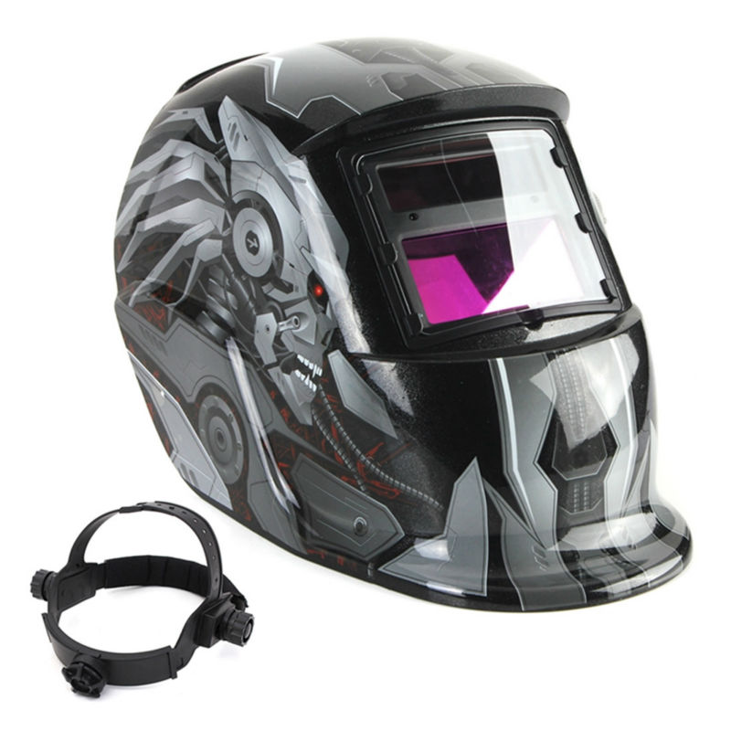 2017 Professional Solar Auto Darkening Welding Helmet TIG MIG Weld Welder Lens Grinding Mask km 1600 welding mask arc tig mig weld solar auto darkening helmet