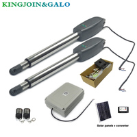 Solar Control Automatic Dual Arm swing Gate door Opener Operator Motor drive For home door access control