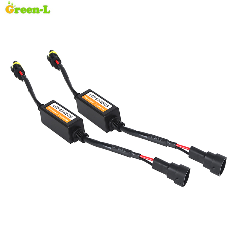 Green L H1 H3 H4 H7 H8 H9 H11 H13 9004 9005 9006 9007 880 D2S Led Car Anti Flicker Canbus