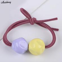 Acrylic Straight Hole Irregular Jewelry Beads Hair Ring DIY Accessory Pearl Diy Fresh Sweet