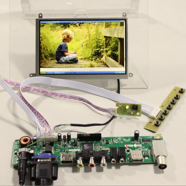 TV HDMI VGA AV USB AUDIO driver Board 5.6inch 1280x800 HV056WX1-100 LCD