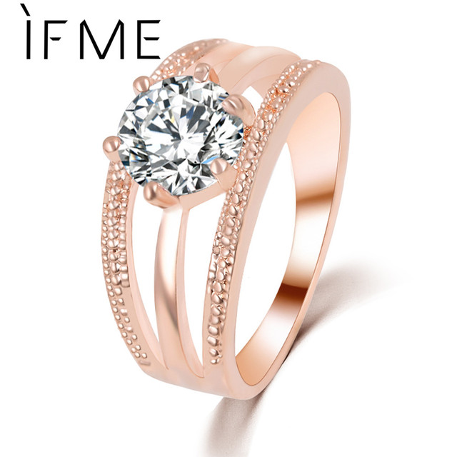IF ME New Women's Fashion Wedding Ring Silver Color Ring Jewelry Multilayer Roun