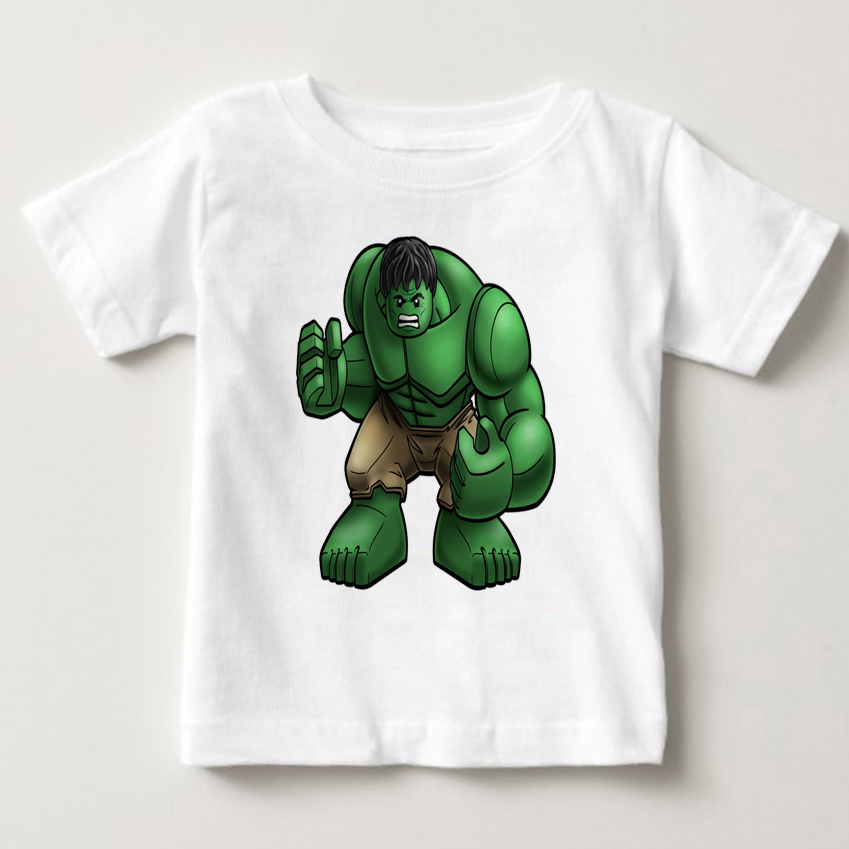 children T Shirts Avengers hulk spiderman iron man Cotton Short Sleeve Kids T-shirt Printed Tees For Boys Girls shirt MJ