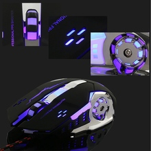 Backlight Gaming Mouse 3200DPI 6 Button LED Optical Mouse Macro Programmable Mice USB Computer Mouse Gamer PC for LOL Laptop
