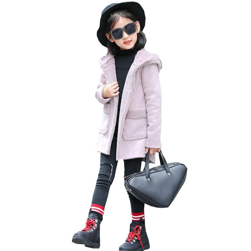 New Fashion Autumn Winter Girls Coat 2018 Korean Children Long-Sleeved Hooded Thick Woolen Jacket Casual Joker Kids Clothes W156 фонарь для дайвинга ferei w156 xml