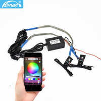 RONAN APP Bluetooth RGB LED colorful Devil Eyes Demon 360 High Quality light retrofit car Projector MH1 Koito hella Lens