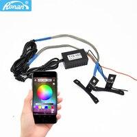 RONAN APP RGB T LED Devil Eyes Demon Eye High Quality Color Change by Cellphone Control for HID Bi Xenon Projector Lens DIY