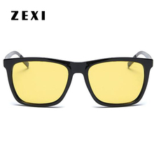 ZEXI Aluminium Driver Glasses Polarized Night Vision Yellow Sunglasses Mens Yellow Sun glasses Polarization Driving Goggles 8195