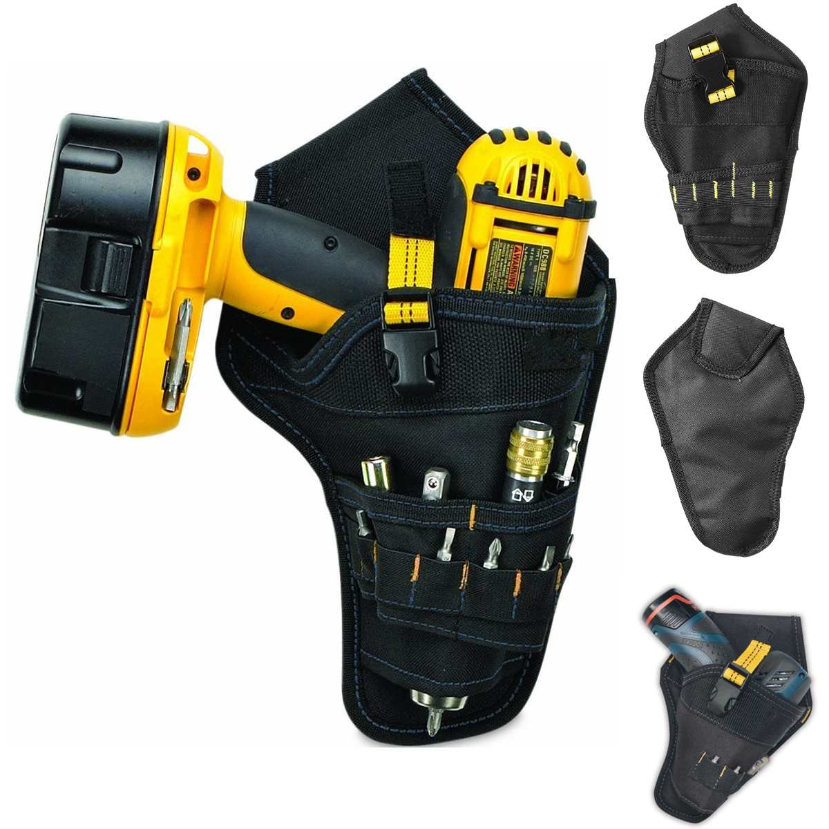 Multifunction Electrician Tool Bag Pouch For Electric Cordless Drill Holder Waist Belt Pouch Storage Bag Organizer