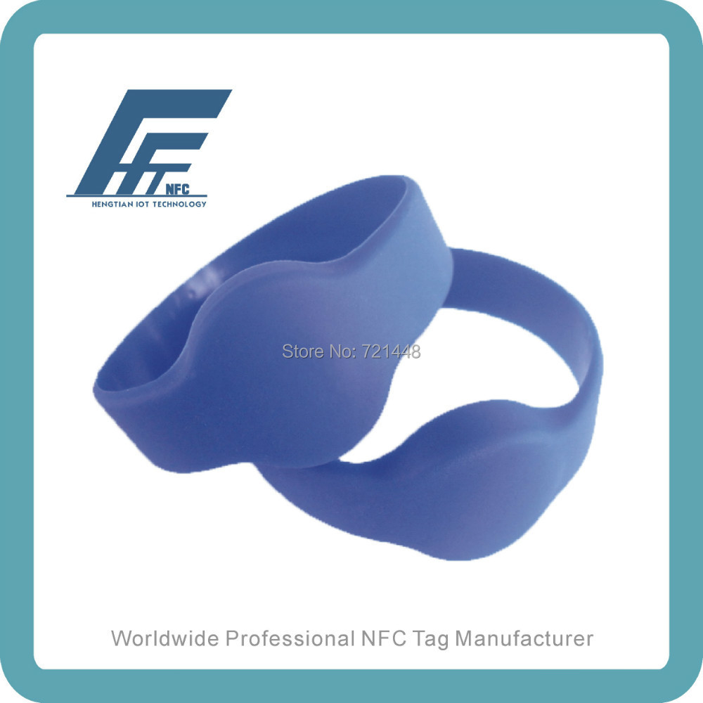 NFC Silicone Wristband tag NTAG213 Blue Round Silicone Wristband Fits male adults Dia74 mm 100pcs ntag213 wristband nfc wristband nfc