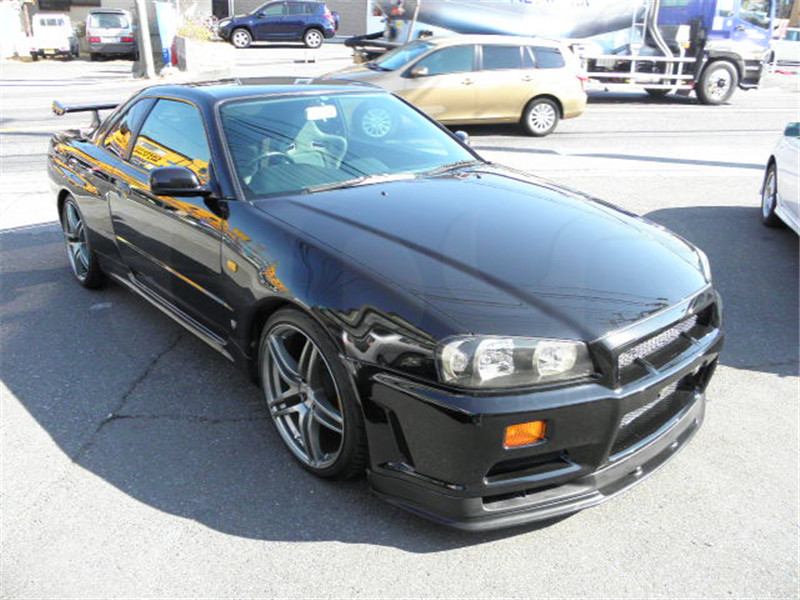 1999-2002 Nissan Skyline R34 GTR OEM標準フロントバンパーボトムリップCF(11)