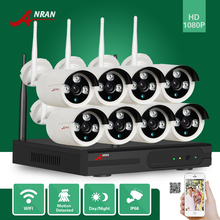 ANRAN CCTV Plug and Play HD 8CH 1080P WIFI NVR 2MP Outdoor Waterproof 3 Array IR IP Wireless Camera Security Surveillance System