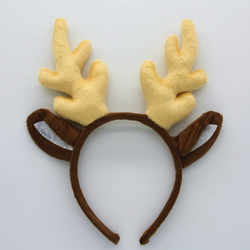 New 2017 Xmas Deer Reindeer Antlers Horn Headband Unicorn Fantasy Hair Band Party Decor Halloween Christmas  Gift Kids Adult
