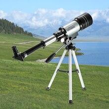 في الهواء الطلق HD تلسكوب 150X الانكسار الفضاء الفلكية أحادي العين السفر نطاق الإكتشاف مع حامل ثلاثي متنقل قابل للتعديل رافعة